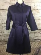 Womens Vera Wang Jacket Size 6 Eggplant Color 100 Polyester