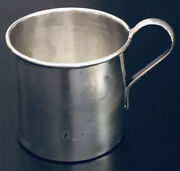 Sheets Rockford Silver Co. Mexican Sterling Silver Baby Cup, Monogrammed Afc