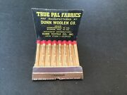 Feature Unused Matchbook True Pal Fabrics Dunn Textile Co Nyc Wv Dog