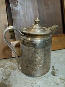 Reed And Barton Silver Soldered Pitcher Marked 2858, 64 Oz Sheraton Hotel