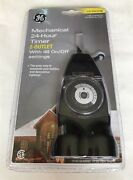 Ge Outdoor Mechanical 24-hour Timer - 2 Outlets With 48 On/off Settings New