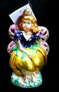 Radko 1999 Flora Bells Fairy Glass Ornament Tag And Box Hand Painted Christmas