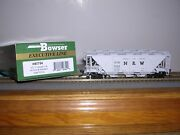 Bowser 40757 Norfolk And West.gray Hc-1 3-bay Covered Hopper 70218 H.o. 1/87