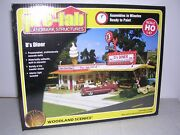 Woodland Scenics Pf5188 D's Drive-in Diner - Building Kit H.o.scale 1/87