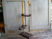 Antique Primitive Wood Double Candle Stand Early Lighting Aafa