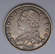 1835 Silver Capped Bust Quarter Uncertified Xf/au