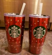 Starbucks Holiday 2018 Stainless Steel Tumbler 20 Oz. Red/polka Dots Nwt