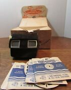 Vintage Sawyers Viewmaster Travel-pac W/shipping Box/10 Disney Reels