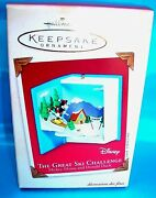 Hallmark Ornament 2002-the Great Ski Challenge-mickey Mouse And Donald Duck