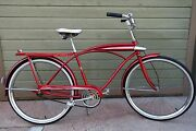 Jc Higgins Vintage Bicycle 1950and039s-60and039s Tank Bike- Survivor - Great Rider - Nice
