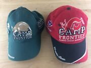 Set Of 2 Camp Frontier Boy Scout Caps Summer Of The Beaver And Fox