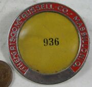 Vintage 1940's Workers Badge Pin The Griscom Russell Co Massillon, Oh 936