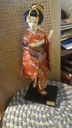 Vintage Japanese Doll Japanese Dancer Maiko In Kyoto By Nishi And Co