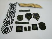 Lot Of 17 Old Vintage Military Patches Army Navy Military Airforce Marines