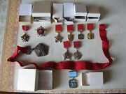 Ussr Badge 10 Pcs - Original - Not To Use In Original Boxes - See Photo...