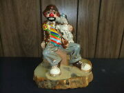 Ron Lee Clown Statue Figurine Carl With Pal 79/80 Style 486 Large Signed Vintage