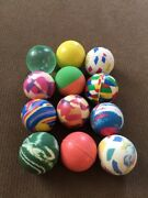 """Vintage Rubber Bouncy Ball Lot Vending Machine Toys 12 1"""" Abstracts"""