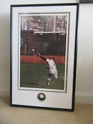 Mickey Mantle Signed Ball And Ltd Andy Jurinko Litho 703/777 Loa Psa/dna - Mint