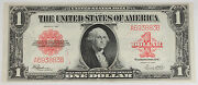 1923 1 Dollar Legal Tender Large Size Note Red Seal Fr-40 Xf+ Popular Currency