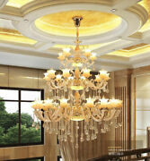 Villa Living Room Duplex Building European Luxury Hotel Works Crystal Chandelier