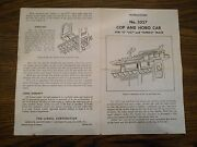 Lionel 3357-8 Cop And Hobo Car Color Copy Of Post War Instructions 9/62