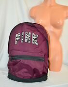 Victorias Secret Pink Graphic Bling Large Full Size Campus Backpack Nwt