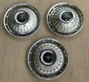 Set Of 3-1960and039s Genuine Chevy Corvair Monza 900 All Silver 13 Hub Caps