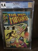 New Mutants 9 Cgc 9.4 White Pages 1st Selene Extra Cover In Center 1/1 Misprint