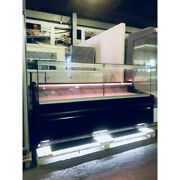 Pico Deep Deli Counter Cooling/ Serve Over Counter/ Square Glass Display Chiller