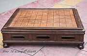 24 Classic Chinese Huanghuali Wood Handcrafted Multifunctional Chess Table Desk