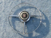 1950 Buick Super Chrome Horn Ring And Cap