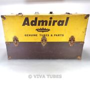 Large, Yellow And Brown, Admiral, Vintage Radio Tv Vacuum Tube Valve Caddy Case