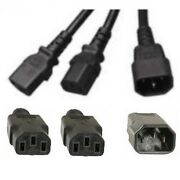 Lot100 3ft Power Y Splitter Ac Cable/cord/wiredevices/pc/computer Sh {c142c13