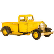 Yellow Pickup Metal Vintage Truck Farmhouse. Old Days. Great Cute Gift