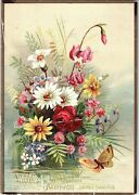 1880's Lovely Bis Willcox And Gibbs Automatic Sewing Machine Trade Card Andw