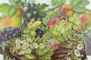 1880's Lovely Large Die Cut Fruits And Leaves Victorian Cards Lot Of 6 Pd296