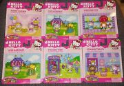 Hello Kitty Fun Figure Packs Funny Clown Live Acrobat Picture Time Costume 6 Lot