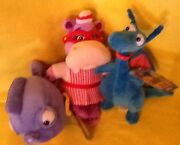 Disney Doc Mcstuffins Plush - Squeakers, Hallie And Stuffy Lot Of 3 Toys