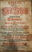 1763 Antique German Bible Martin Luther Old New Testament
