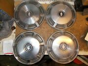 Vintage Oem Hubcaps 15 Inch Diameter 1973 To 1977 Chevy Monte Carlo