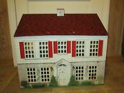 F.w. Woolworth Playsteel Vintage Tin Litho Doll House