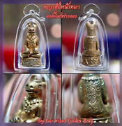 Thai Amulet Magic Dog Face Wizard Golden Body Phra Ajarn O Attract Charm Protect