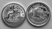 10 1 Gram 0.999+ Pure Silver Rounds Of The Trade Dollar Design