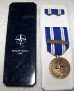 Us Military Nato Article 5 Active Endeavour Isaf Medal Ribbon Hat Lapel Coat Pin