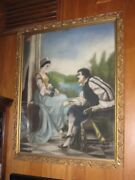 Antique Original Pastel Man And Woman 1920 Southern Artist Tennessee Sale