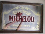 1988 Michelob Glass Mirror Sign Anheuser-busch Inc 24 Wide- 16 Tall In Damage
