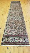 Vintage 1930-1930s Floral Turkish Bunyan Runner 2and0391 X 9and0392