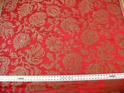 Scalamandre Ypres Lampas Damask Pom Renaissance Ruby Red Gold By Yard Msrp448/y