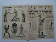 Chicago Cubs News Letter Vol 3 6 Aug 15, 1938 Pennant Drive
