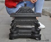 Rare Rosewood Wood Carve Dynasty Palace Dragon Andldquo寿andrdquo Text Incense Burner Censer